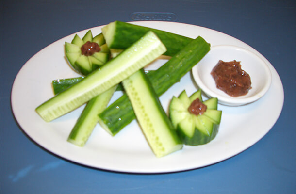 Fresh Cucumber With Plum Sauce